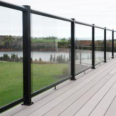 Railing Image Gallery – Century Scenic Glass Century Scenic Glass Railing System in Black.