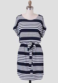 Sailing Away Striped Dress