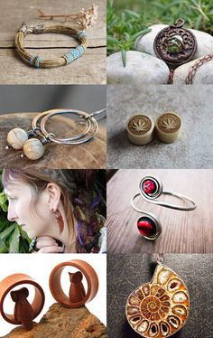 Organic jewelry by Sweetly ART on Etsy--Pinned with TreasuryPin.com