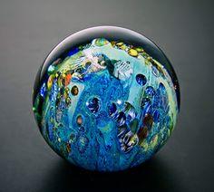 3.5 Inhabited Megaplanet: Josh Simpson: Art Glass Sculpture   Artful Home