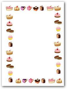 Folios con pasteles para imprimir   Fotos o Imágenes   Portadas para Facebook