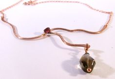 Branch In The Road Copper Smoky Quartz and Garnet by cherbear71, $78.00
