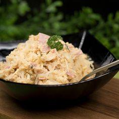 Die Schinkennudeln sind einfach zu machen schmecken super und sie sind auch noch low-carb. Die Nudeln selbst bestehen aus weißem Rettich.