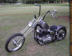 Harley Sportster Chopper with 1973 Harley Ironhead Engine in a Hardtail Frame with Girder Fork