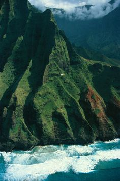 Na Pali Coast Aerial Photograph. Napali coast, Kauai, Hawaii.
