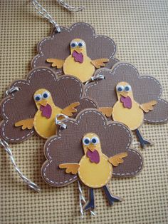 Thanksgiving gift tagsTurkey gift tags by CraftyClippingsbyPeg, $5.00