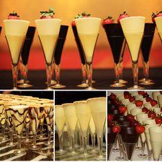 Chocolate champagne glasses
