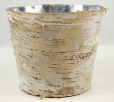 3.99 SALE PRICE! Make your floral arrangements look even brighter with this white birch container. Perfect for an outdoor event, this zinc metal pail is cove...