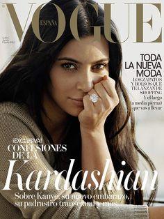 Kim Kardashian en portada de #VogueAgosto: sin maquillaje, sin complejos, sin censura