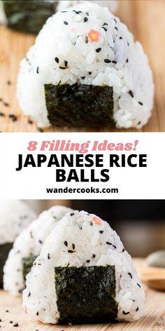 Easy Onigiri Recipe, Vegetarian Meals, Veggie Recipes, Asian Recipes, New Recipes, Real Food Recipes, Easy Japanese Recipes, Japanese Food, Bon Appetit