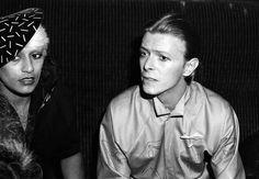 David Bowie with Daniella Parmar and Princess Julia at The Blitz Club in London, 1979 © Robert Rosen
