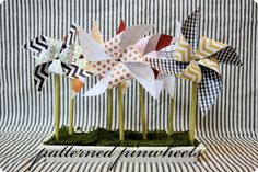 diy: patterned pinwheels.