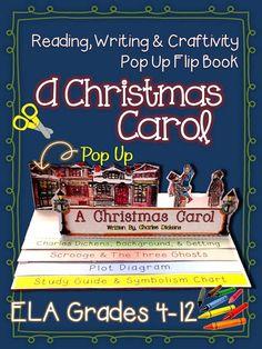 A Christmas Carol: Reading, Writing, Craftivity, and Pop Up Flip Book ($)