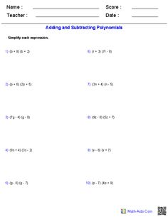 Dividing Rational Expressions Worksheets | Math-Aids.Com ...
