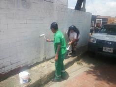 14-03-14 Jornada de aseo y revitalización con Alcaldia de Candelaria y Policia Nacional.