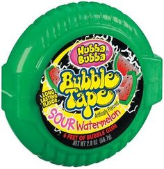 Hubba Bubba Bubble Gum Tape, Sour Watermelon, Tapes (Pack of Apple Tea, Road Trip Snacks, Little Girl Toys, Gum Health, Sour Candy, Bulk Candy, Candy Bouquet, Food Goals, Chewing Gum