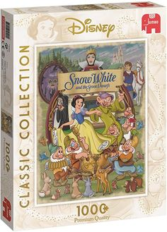 Amazon.com: Disney Classic Collection Snow White Jumbo 19490 - 1000 Piece Jigsaw Puzzle: Toys & Games