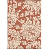 Found it at Wayfair - Westerly Cherry & Beige Floral Area Rug