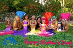 Happy Mother's Day from our Mermaid Moms to yours! (2012)   Mermaids r us offers children tails to adult. All sizes never to old to play dress up. Contact  Www.Mermaidsrus.com