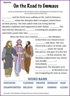 On the Road to Emmaus - Kids Korner - BibleWise