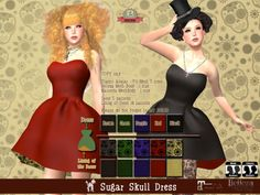 +Olive+ ☆Sugar Skull Dress☆  for Belleza , Maitreya , Classic Avatar (Fit Mesh 5 Size) / COPY Event Price:L$100(50%off) http://maps.secondlife.com/secondlife/Ryukyu/34/142/601