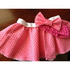 Circle skirt and matching bow I made for my daughter (: