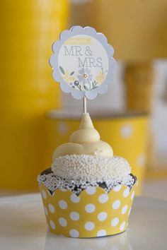 Bridal Shower Decorations  Printable  Yellow & Gray by PaperAndPip, $15.00