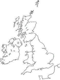 blank outline map of British Isles   Legendary Women of World ...