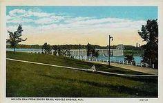 Muscle Shoals Alabama AL 1929 Wilson Dam Power House Antique Vintage Postcard