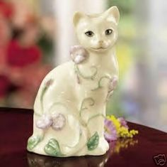 """Lenox """"Garden Cat"""" at Cat Fancy Gifts. Very small (5 3/4"""") but sweet."""