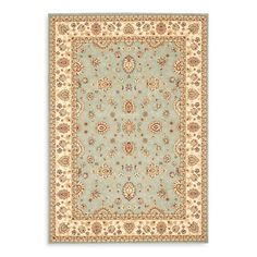 Safavieh Majesty Collection Light Blue and Creme Rugs - Bed Bath & Beyond
