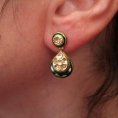 """The same earrings worn...www.halter-ethnic.com...see """"My Lucky Finds"""""""