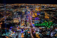 Magnificent photos of Las Vegas seen of the sky. Discover worldwide casinos and their best offers at www.casinosavenue.com