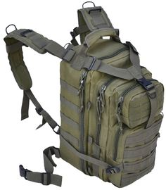 Every Day Carry Tactical Assault Bag EDC Day Pack Backpack w/Molle Webbing Black: Sports & Outdoors