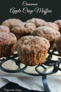 Cinnamon Apple Crisp Muffins are topped with a sweet cinnamon crunch that will remind you of streusel but it doesn't require any of the extra work.