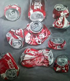 Crushed Coke Cans