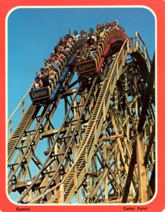 Cedar Point Rarities-Gemini Postcard. Used to live 1 hour from this place. We go every year we visit.