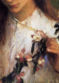 Apple Blossom by George Clausen, 1899 (detail) Irish Painters, Spring Awakening, Royal College Of Art, Classic Image, Artist At Work, Impressionism, Fine Art, Portrait, Detail