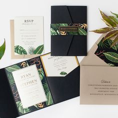 Custom botanical, foil wedding invitations from Paper Rock Scissor Wood Invitation, Debut Invitation, Invitation Design, Foil Wedding Invitations, Wedding Stationary, Wedding Cards, Diy Wedding, Wedding Venues, Rustic Wedding