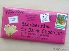 Raspberries in 55% Dark Chocolate Bar by Chocolove