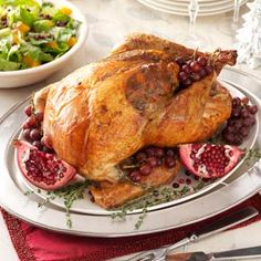 """ROAST TURKEY WITH SAUSAGE-CABBAGE STUFFING RECIPE: ~ From: """"Taste Of Home.Com"""" ~ Recipe Courtesy Of: """"ALMA WINBERRY""""~Great Falls, Montana ~ Prep.Time: 30 min; Bake Time: 3 hrs + standing. Yield: (12 servings). *** This turkey and trimmings recipe is a staple in my family. No one guesses that there's cabbage in the stuffing!"""