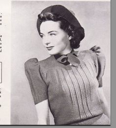 Vintage Knitting Pattern 1930's Sweater and Hat PDF by Mrsdepew