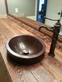 1000 Images About Wood Bathroom Vanities And Sinks On Pinterest Wood Bathroom Vanity Tops