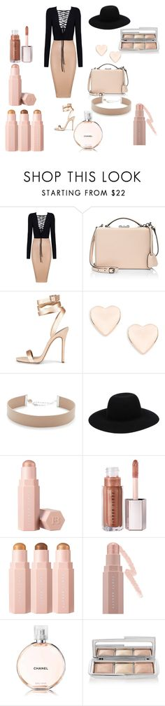 """nude day"" by kweenmani on Polyvore featuring Mark Cross, Ted Baker, Jennifer Zeuner, Off-White, Puma, Chanel and Hourglass Cosmetics"