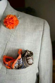 Orange pop against grey. I dig!