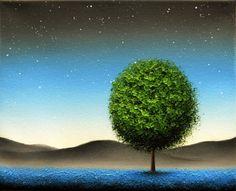 Twilight Night Sky Print Starry Sky Blue Night Art by BingArt