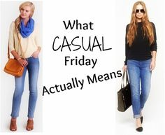 What Casual Friday Actually Means #DressForSuccess #CasualFriday