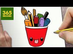 COMMENT DESSINER CARTABLE KAWAII ÉTAPE PAR ÉTAPE – Dessins kawaii facile - YouTube Cute Cartoon Drawings, Cute Kawaii Drawings, Kawaii Doodles, Cute Doodles, Doodle Drawings, Cartoon Styles, Easy Drawings, 365 Kawaii, Kawaii Disney