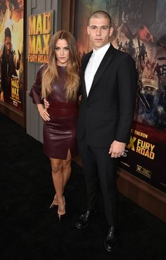 """Riley Keough Ben Smith-Petersen Photos - Actress Riley Keough (L) and Ben Smith-Petersen attend the premiere of Warner Bros. Pictures' """"Mad Max: Fury Road"""" at TCL Chinese Theatre on May 7, 2015 in Hollywood, California. - Premiere Of Warner Bros. Pictures' 'Mad Max: Fury Road' - Red Carpet"""