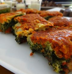 Raw Vegan Lasagna - Put it in the dehydrator for a few hours and it looks just like a cooked one! Tastes even better too :)
